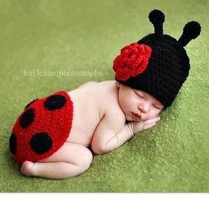 Other - Newborn Ladybug Crocheted Photo Prop
